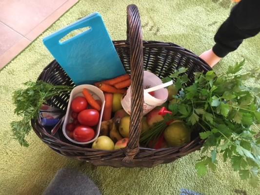 grönsaker i korg